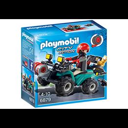 Playmobil City Action 6879, Banditt-firhjuling med bytte