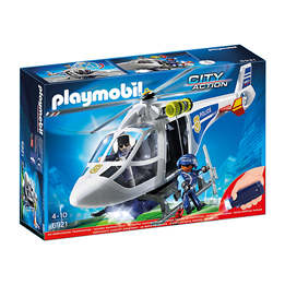 Playmobil City Action 6921, Politihelikopter med lyskaster