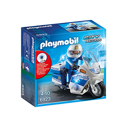 Playmobil City Action 6923, Politimotorsykkel med LED-lys