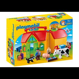 Playmobil 1.2.3 6962, Transportabel bondegård