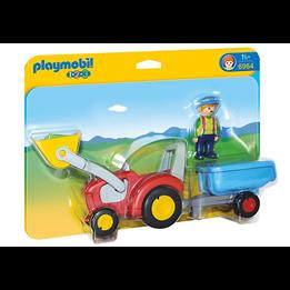 Playmobil 1.2.3 6964, Bonde med traktor og tilhenger