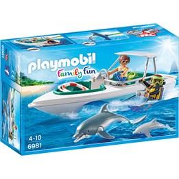 Playmobil Family Fun 6981, Dykketur med racerbåt