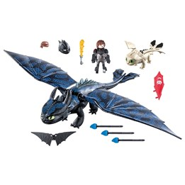Playmobil Dragons - Tandløs og Hicke med drageunge