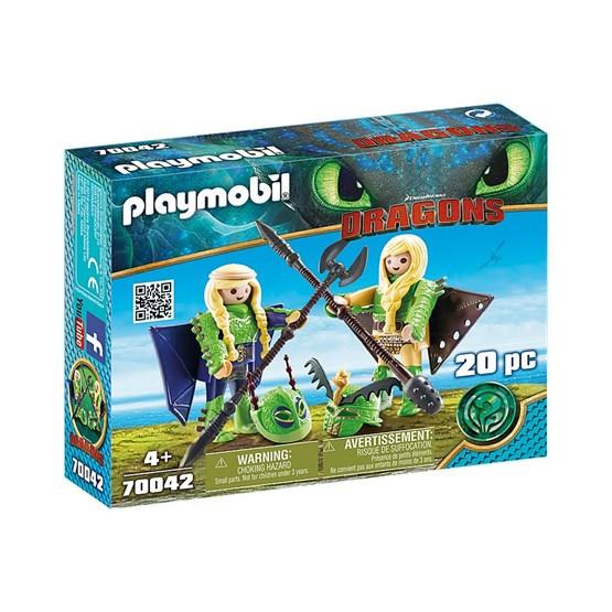 Playmobil Dragons - Flåbusa og Flåbuse med flydrakt