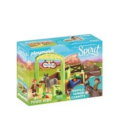Playmobil Spirit - Snips og Herr Gulrot med hestestall