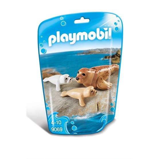 Playmobil Zoo 9069, Sel med unger