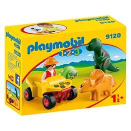 Playmobil 1.2.3 9120, 1.2.3 Oppdagelsesreisende med dinosaurer
