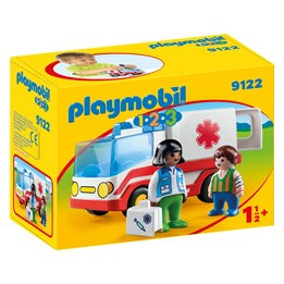 Playmobil 1.2.3 9122, 1.2.3 Ambulanse