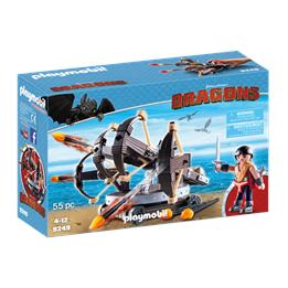 Playmobil Dragons 9249, Eret med katapult med fire skudd