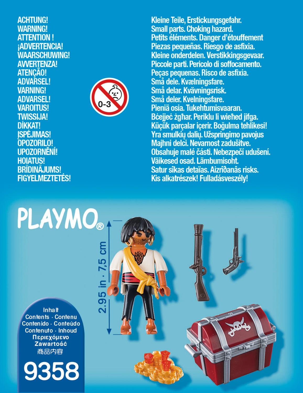 playmobil pirates  pirat med skattekiste  hjem  lekiano