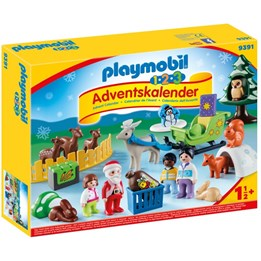 "Playmobil, 1.2.3 - Adventskalender ""Jul i dyrenes skog"""