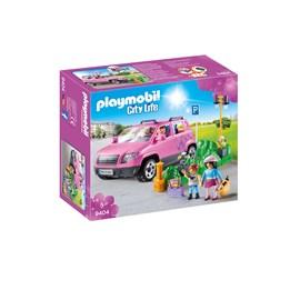Playmobil, City Life - Familiebil med parkeringsplass