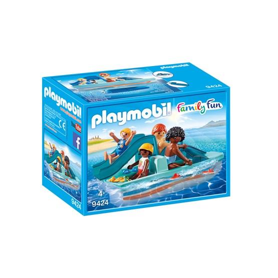 Playmobil, Family Fun - Tråkkebåt med sklie