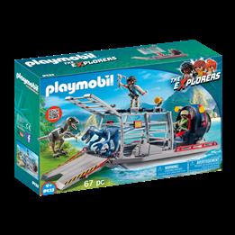 Playmobil, Explorers - Propellbåt med dinosaurbur