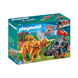 Playmobil, Explorers - Jeep med triceratops