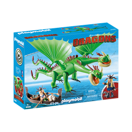 Playmobil, Dragons - Flåbusa og Flåbuse med Røffa og Tøffe
