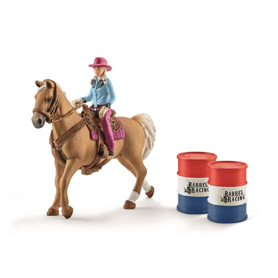 Schleich, Barrel racing med cowgirl