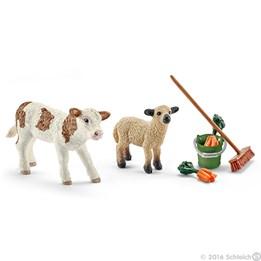 Schleich, Stellesett med kalv og lam