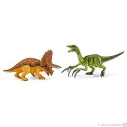 Schleich, Triceratops & Therizinosaurus