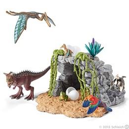 Schleich, Dinosaur sett med grotte