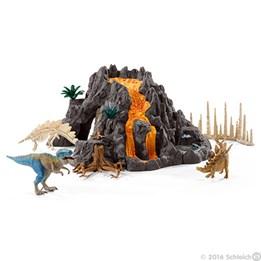 Schleich, Gigantisk vulkan med T-rex