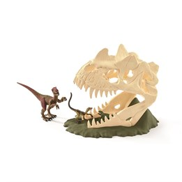 Schleich, Dinosaurer - Stor skjelettfelle med Velociraptor