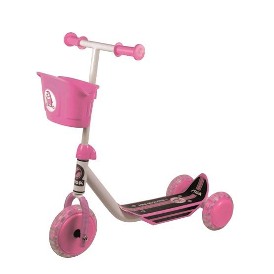 STIGA, Sparkesykkel med tre hjul, rosa