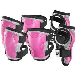 STIGA, Beskyttelsessett Komfort 3-p rosa jr xs