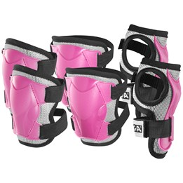 STIGA, Protection set Comfort 3-p pink jr s