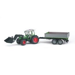 Bruder Fendt 209 S w/frontloader & tipping trailer
