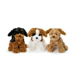 Teddykompaniet, Hund sort/brun, 25 cm