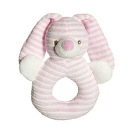 Teddykompaniet, Cotton Cuties - Kanin Rangle Rosa 16 cm