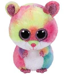 TY, Beanie Boos - Rodney flerfarget hamster 15 cm