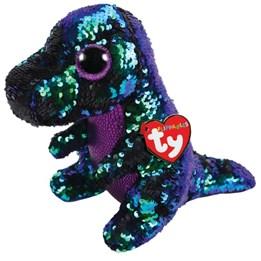 TY, Flippables - Crunch Dinosaur 15 cm