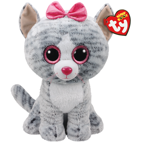 TY, Beanie Boos - Kiki grå katt 40 cm