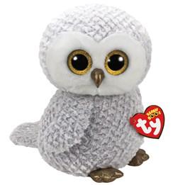 TY, Beanie Boos - Owlette Vit Uggla 40 cm