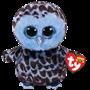 TY, Beanie Boos - Yago blå ugle 15 cm
