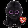 TY, Beanie Boos - George svart gorilla 23 cm