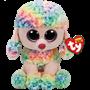 TY, Beanie Boos - Rainbow flerfarget puddel 23 cm
