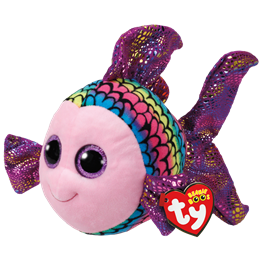 TY, Beanie Boos - Flippy multicolored fish 23 cm