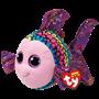 TY, Beanie Boos - Flippy flerfarget fisk 23 cm