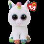 TY, Beanie Boos - Pixy hvit enhjørning 23 cm