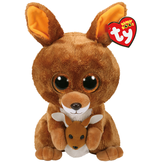 TY, Beanie Boos - Tipper brun kenguru 23 cm